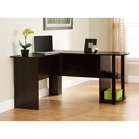 Ameriwood, L-Shaped Office Desk with Side Storage, Multiple (Antoinette Desk)