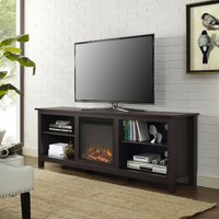 "70"" Fireplace TV Media Storage Stand for TV's up to 75"", Espresso"