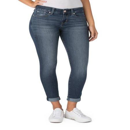 Women's Modern Simply Stretch Capri Jeans - Womens Capes