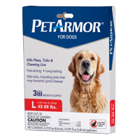 PetArmor Flea & Tick Prevention for Dogs (45-88 lbs), 3 Treatments