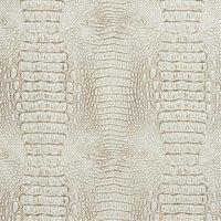 Designer Fabrics G032 54 in. Wide White And Gray, Crocodile Faux Leather Vinyl Fabric