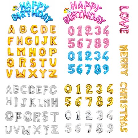"16"" 40"" Large Foil Balloon Letters Numbers Gold Sliver Pink Blue Inflated Float Helium Balloons Birthday Wedding Party Banner Decoration Kids Fun Toys"