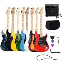 """Zimtown Beginners 39"""" New 6 String Electric Guitar + Amplifier + Guitar Bag + Guitar Strap + Tool 8 Color"""