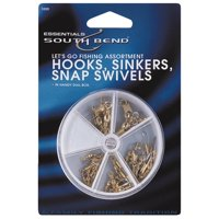 South Bend® Let's Go Fishing Hooks, Sinkers, Snap Swivels Assortment Variety Pack 75 pc Pack