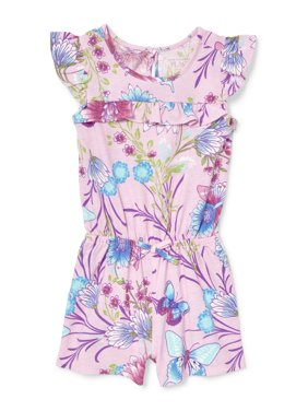 Floral Butterfly Romper (Baby Girls & Toddler Girls)