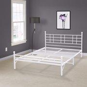 Best Price Mattress Easy Set-up Platform Bed, White, Multiple Sizes