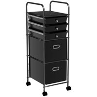 Mainstays 5-Tier Rolling Cart, Multiple Colors