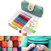Meigar 11 Sizes Crochet Hooks Set with Case,2mm to 8mm DIY Weave Yarn Kit