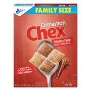 (2 Pack) Cinnamon Chex Family Size Breakfast Cereal, 19.6 oz Box