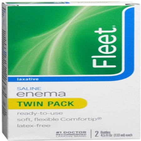 6 Pack - Fleet Saline Enema Twin Pack 9 oz