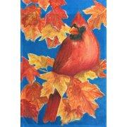 5e8dac397287 Autumn Cardinal Fall House Flag Leaves by Custom Decor 28