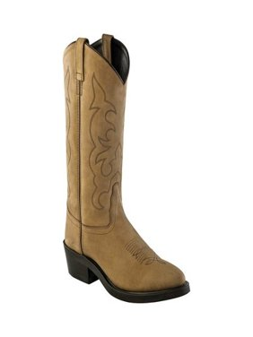 Men's Old West Narrow Round Toe Cowboy Work Boot
