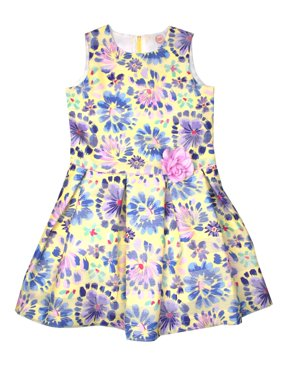 Printed Stripe Organza Easter Dress (Little Girls, Big Girls & Big Girls Plus)