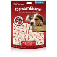 DreamBone Dog Chew w/ Real Chicken & Vegetables, Mini, 40-Count