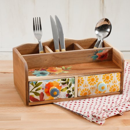 The Pioneer Woman Pioneer 10.63-Inch Flatware Caddy