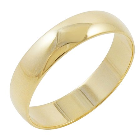 Oxford Ivy Men's 10K Yellow Gold 5mm Traditional Plain Wedding Band (Available Ring Sizes 7-12 1/2) ()