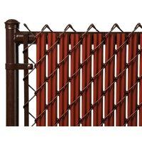Redwood 6ft Ridged Slat for Chain Link Fence