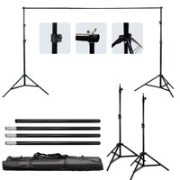 Zimtown 6.5*10 Ft Adjustable Background 2 Support Stand Photo Backdrop 4 Crossbar Kit