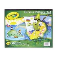 Crayola Marker & Watercolor Paper Pad, 50 Sheets Heaveywright Paper