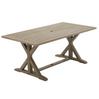 Better Homes and Gardens Camrose Farmhouse Trestle-Based Outdoor Dining Table