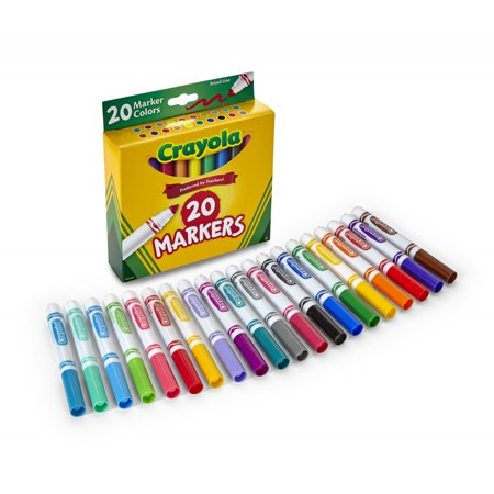 Crayola 20 Count Broad Line Classic Markers- Perfect For Back To School](Crayola Window Markers)