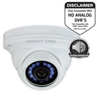 Night Owl 1 Pack Add–On 1080p HD Wired Security Dome Camera – Audio Enabled