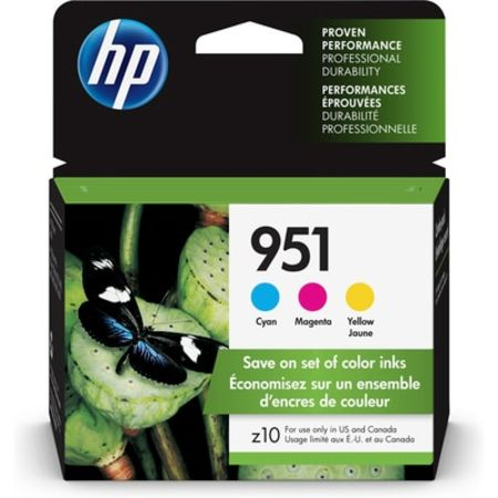 HP 951 3-pack Cyan/Magenta/Yellow Original Ink Cartridges ()