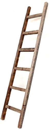 Barnwoodusa Rustic 6 Ft Decorative Ladder 100 Reclaimed Wood Ladder Weathered Gray  E2 99 Bb