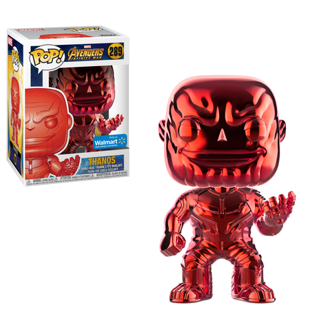 Funko POP Marvel: Infinity War - Thanos - Red Chrome - Walmart Exclusive - Pops Toys