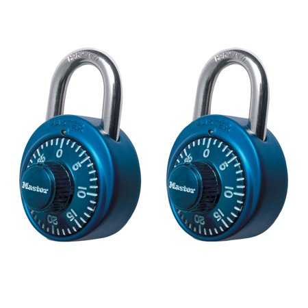 Master Lock Padlock 1530T Dial Combination Lock, 1-7/8 in. Wide, Assorted Colors,
