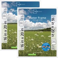 """Mainstays 16"""" x 20"""" Basic Poster and Picture Frame, Black, Set of 2 Frames"""