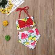 432b4d37a1e Newborn Kids Baby Girl Watermelon Strap Swimming Bikini Swimwear Swimsuit  Bathing Suit Beachwear 1-2Years