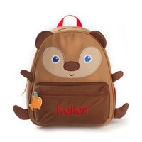 Personalized Brown Bear Backpack