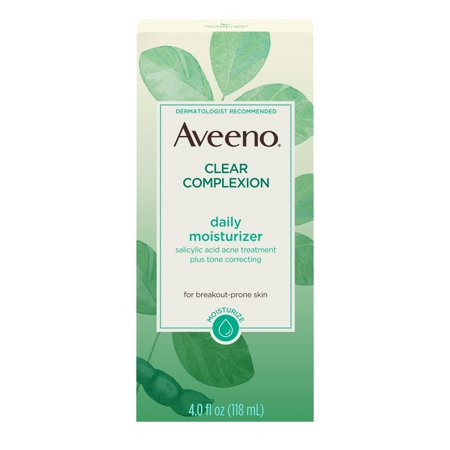 Aveeno Clear Complexion Acne-Fighting Face Moisturizer with Soy, 4 oz Aveeno Skin Brightening Daily Moisturizer