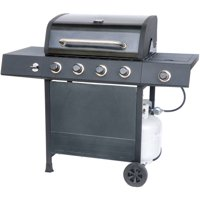 RevoAce 4-Burner Gas Grill with Side Burner, Pewter Fleck