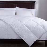 Puredown Lightweight Down Comforter Duvet Insert 100% Cotton 550 Fill Power, King Size, White