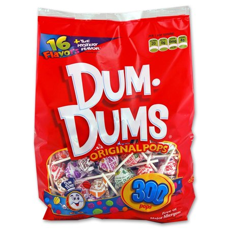 Dum-Dums Assorted Flavors Original Pops, 50 Oz., 300 Count ()