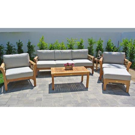 Willow Creek Designs Monterey Teak 6 Piece Deep Seating Patio Set ()
