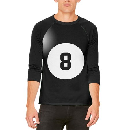 Halloween Billiard Pool Ball Eight Costume All Over Mens Raglan T Shirt](8 Ball Pool Halloween)