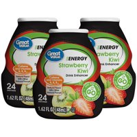 (10 Pack) Great Value Drink Mix, Strawberry Kiwi, 1.62 Fl Oz, 1 Count