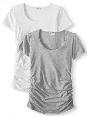 Maternity Scoop Neck Tee 2 Pack - Available in Plus Sizes
