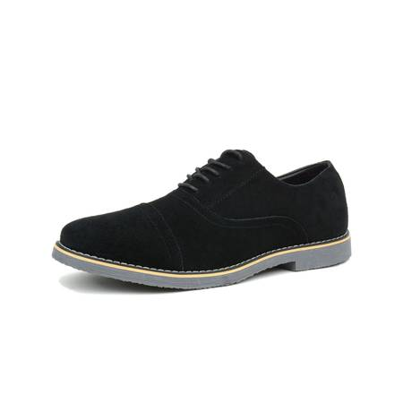 Suede Lace Up Walking Shoes - Alpine Swiss Aston Mens Lace Up Oxfords Genuine Suede Cap Toe Formal Dress Shoes