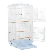"Yaheetech 36"" Large White Metal Bird Cage for Budgie, Parrot, Canary & Cockatiel"