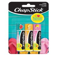 (3 pack) ChapStick I Love Summer Collection Flavored Lip Balm, 1 Blister pack of 3 Sticks