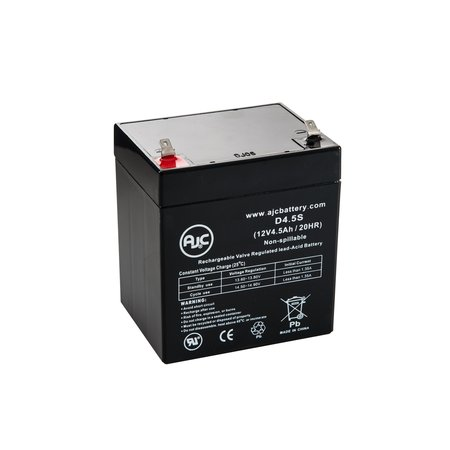 Genesis NP4-12T, NP 4-12T .250 term 12V 4.5Ah UPS Battery - This is an AJC Brand - Np Fd1 Replacement