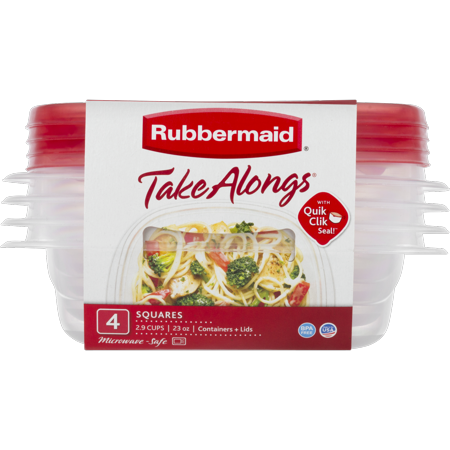 Rubbermaid TakeAlongs Food Storage Containers, 2.9 Cup, 4-Pack ()