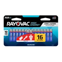 Rayovac High Energy Alkaline, AAA Batteries, 16 Count
