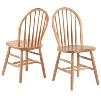 Winsome Wood Windsor Chair 2 Pack, Natural Finish