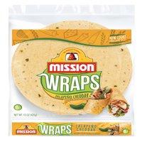 Mission Jalapeno Cheddar Flour Tortilla Wraps, 6 ct
