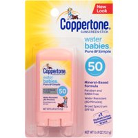 Coppertone WaterBABIES Sunscreen Pure & Simple Stick SPF 50 .5 oz